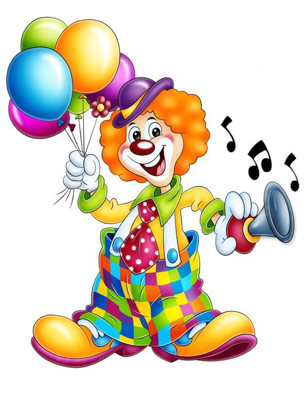 Cute cartoon clip art. Clown clipart