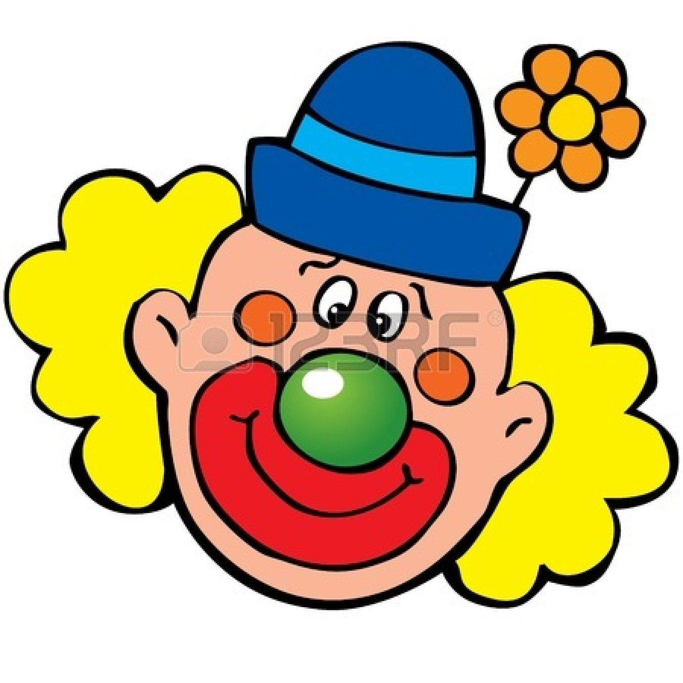 Clown clipart. Face clip art happy