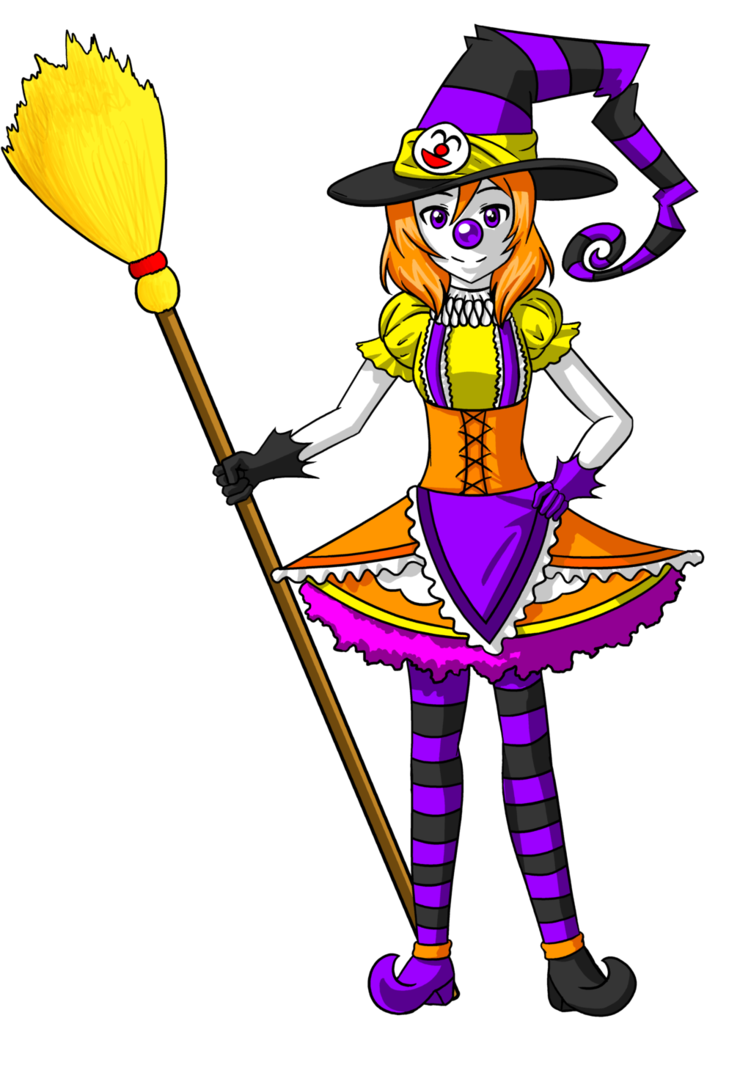 Clown clipart accessory. Maki halloween witch by