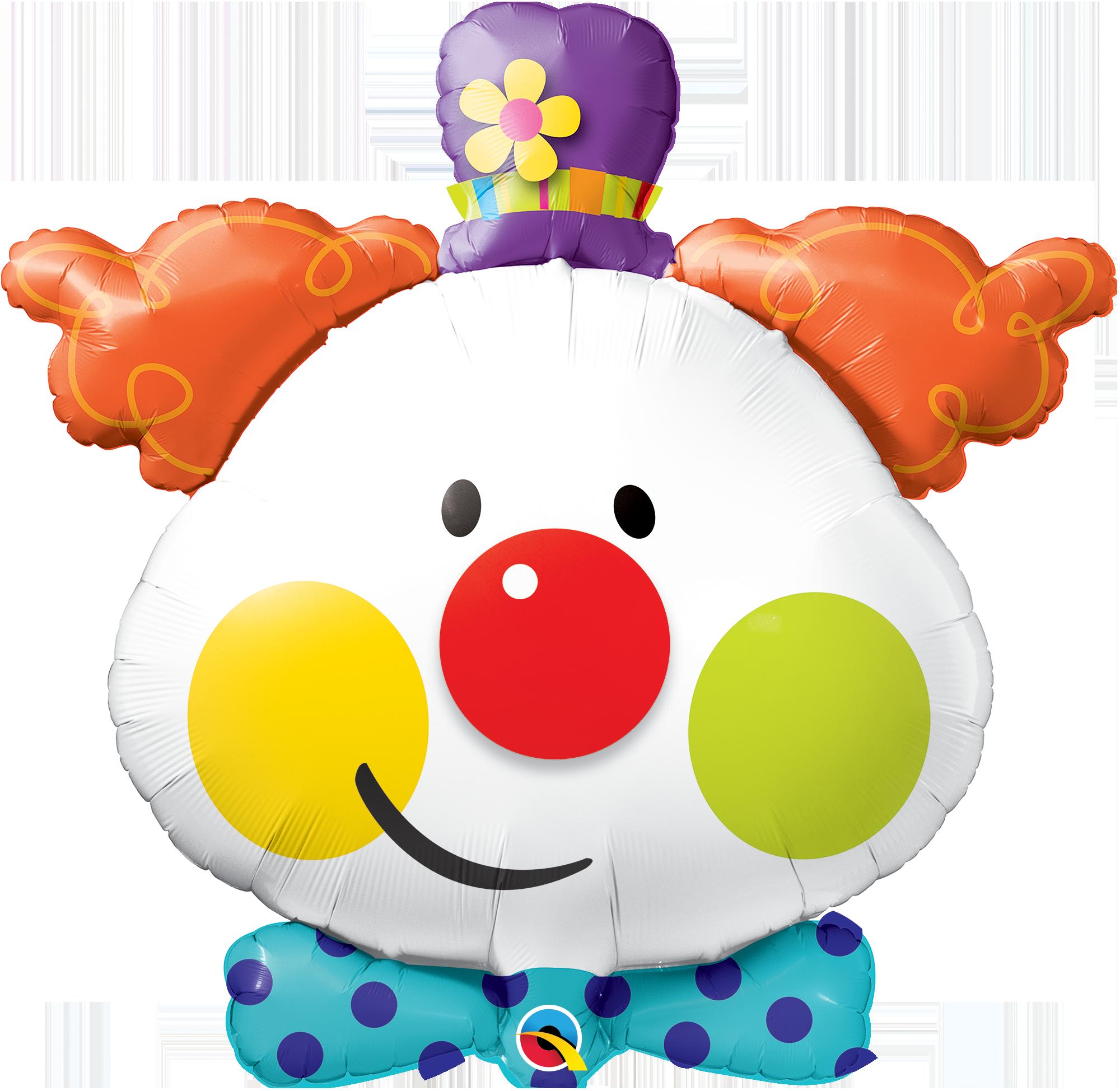 shape foil cute. Clown clipart acrobat