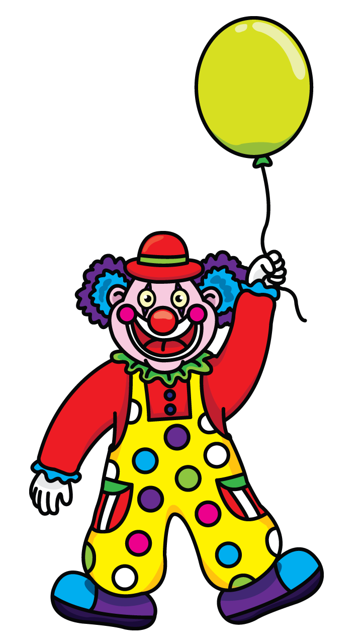 For the children drawing. Clown clipart balloon coloring page