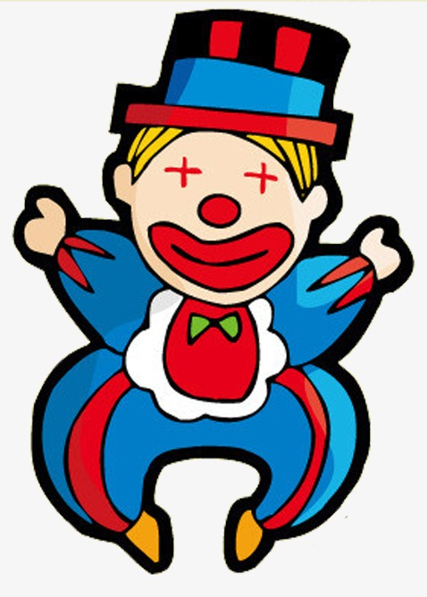 Cartoon png image and. Clown clipart blue