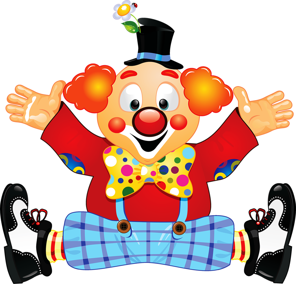 collection of kopf. Clown clipart body
