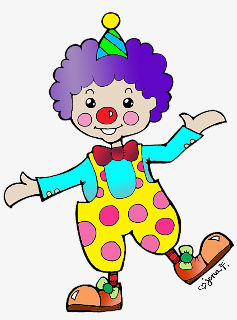 Happy birthday free . Clown clipart body