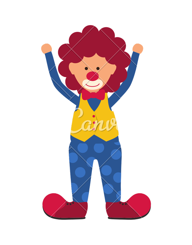Clown clipart carnival. Icon circus and design