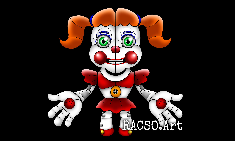 Circus baby by racsoart. Clown clipart chibi