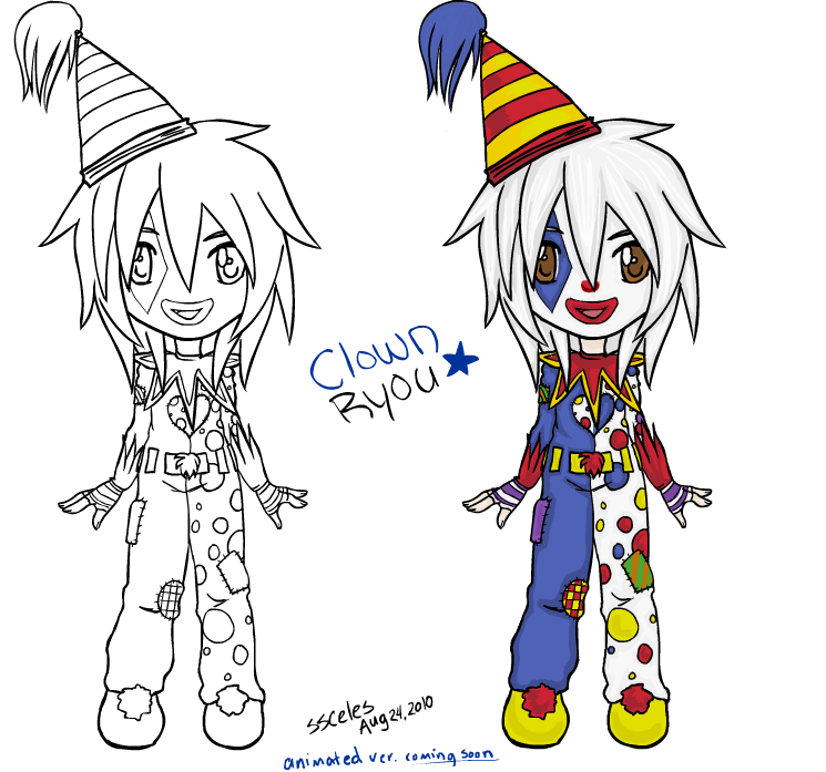 Clown clipart chibi. Ryou static by ssceles
