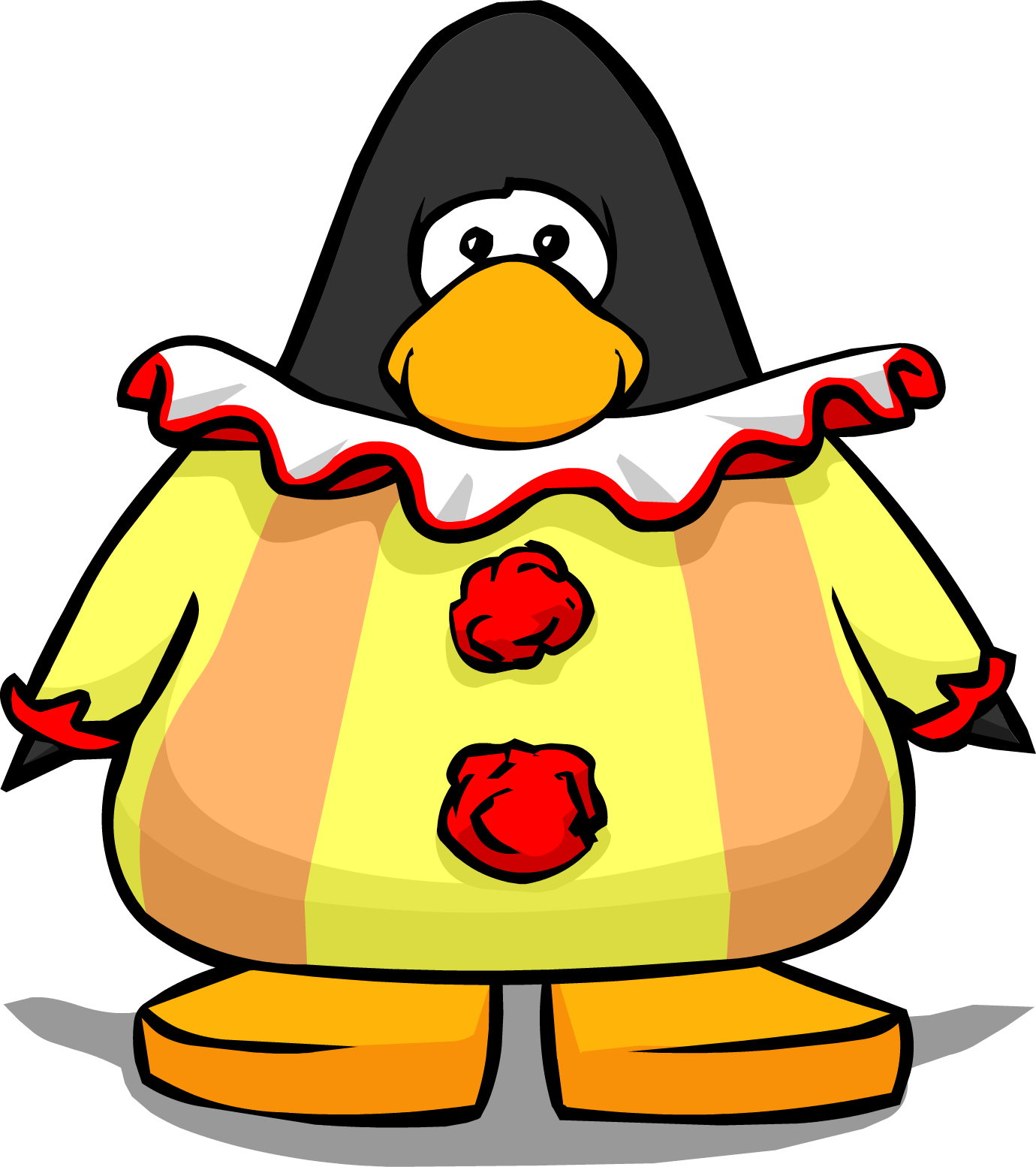 Image on a player. Costume clipart clown