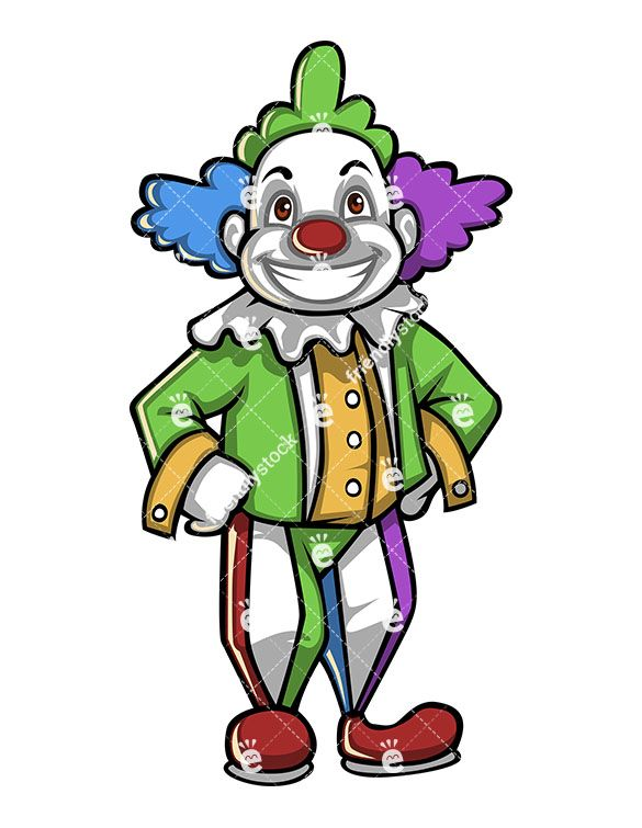 A person dressed up. Clown clipart clown costume