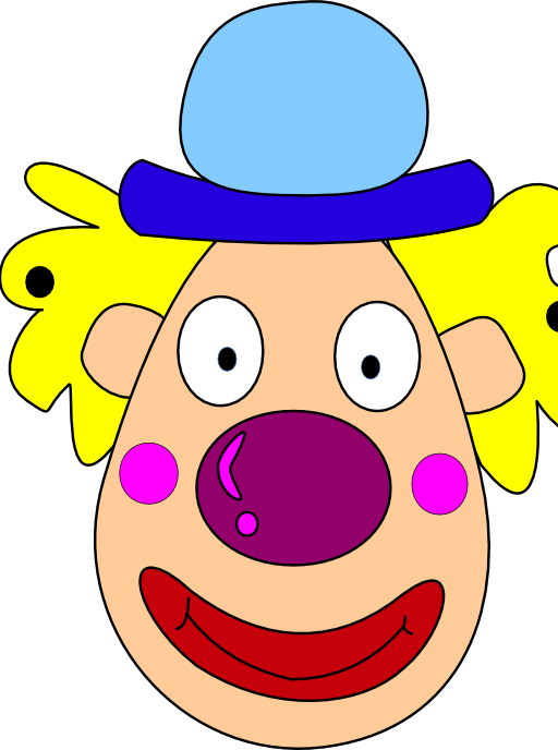 Clown clipart clown face. I royalty free public