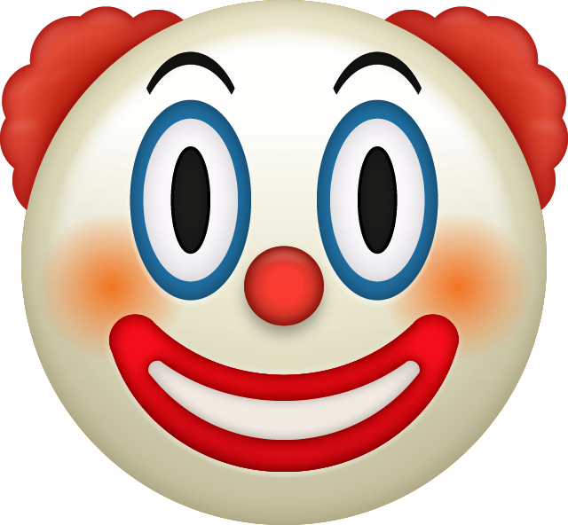 Surprise clipart emoji. Download clown iphone icon