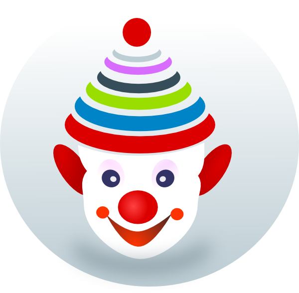 Clip art at clker. Joker clipart girl clown face