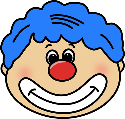 Clip art free download. Clown clipart clown head