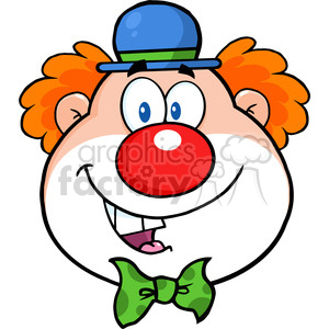 Clown clipart clown head. Royalty free rf illustration
