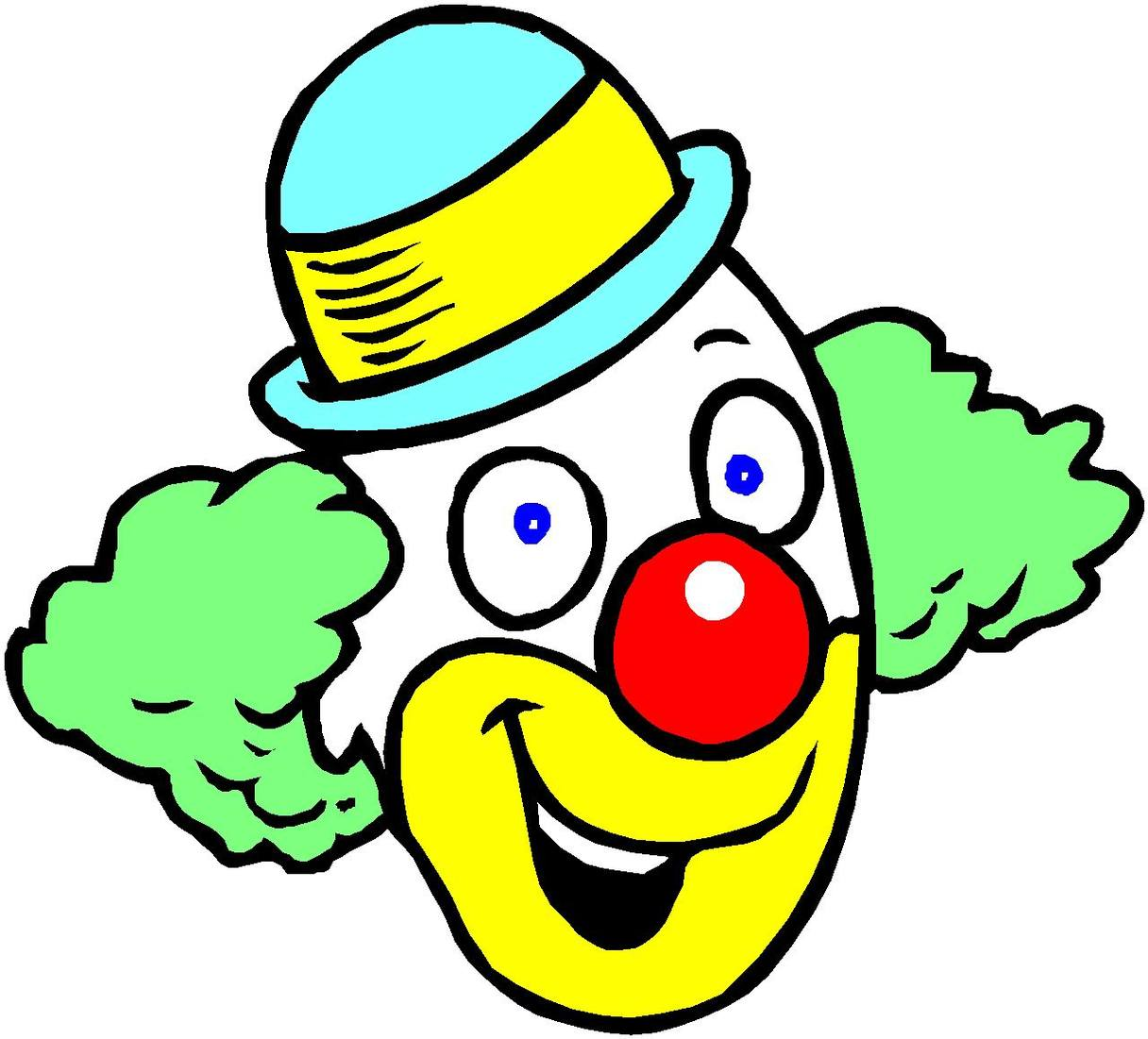 Free halloween cliparts download. Clown clipart clown head