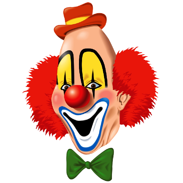 Party clowns and balloons. Mask clipart clown