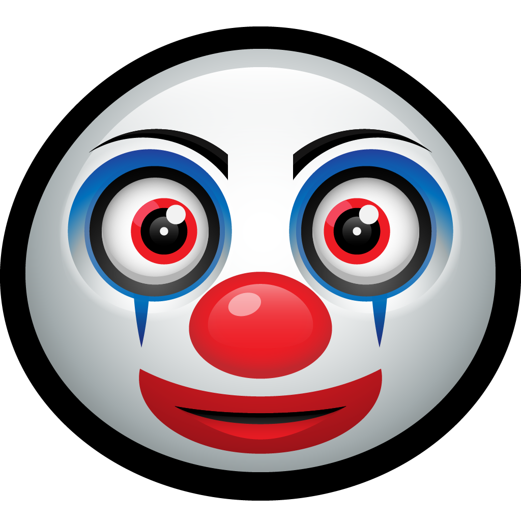 Happy funny carnival pennywise. Clown clipart clown mask