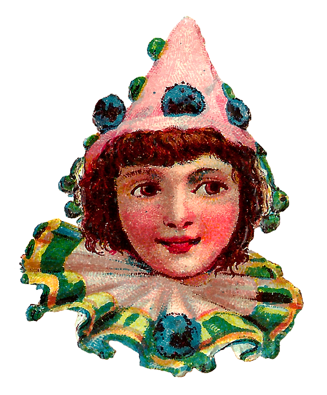Clown clipart collar. Antique images circus downloads