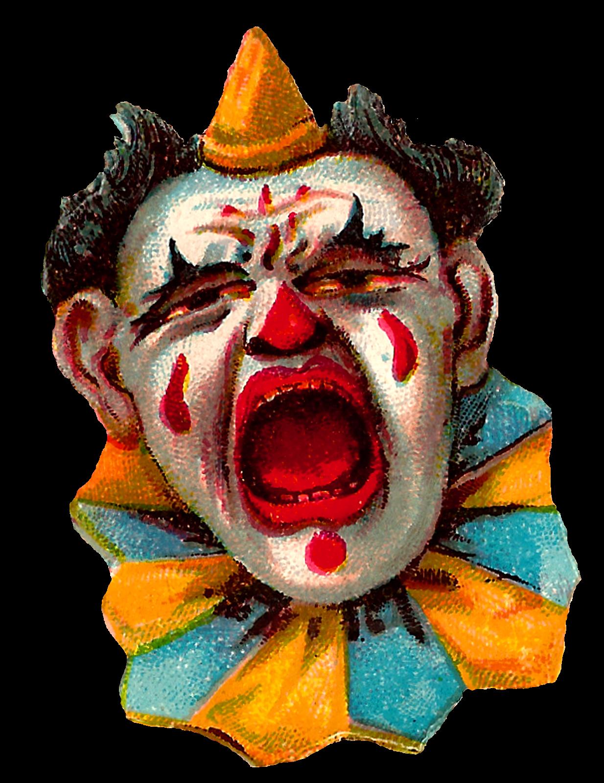 Antique images vintage clip. Clown clipart collar