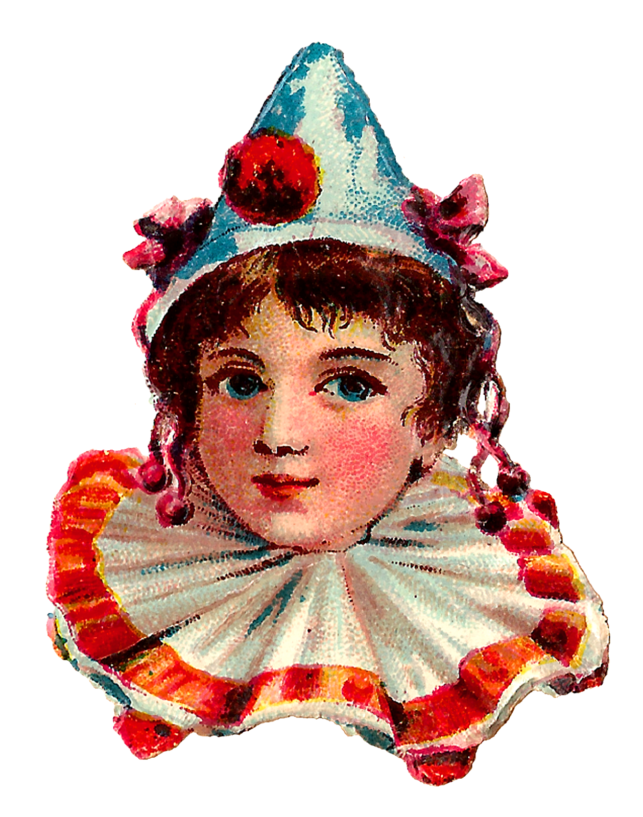 Antique images circus downloads. Clown clipart collar