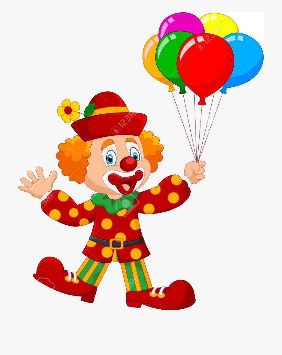 Cartoon circus transparent free. Clown clipart comic