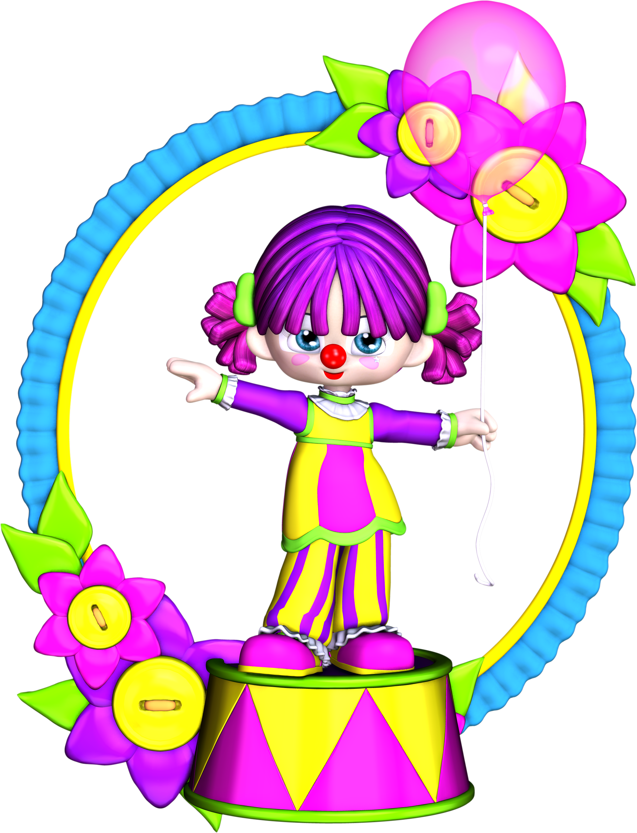 Free birthday . Happy clipart clown