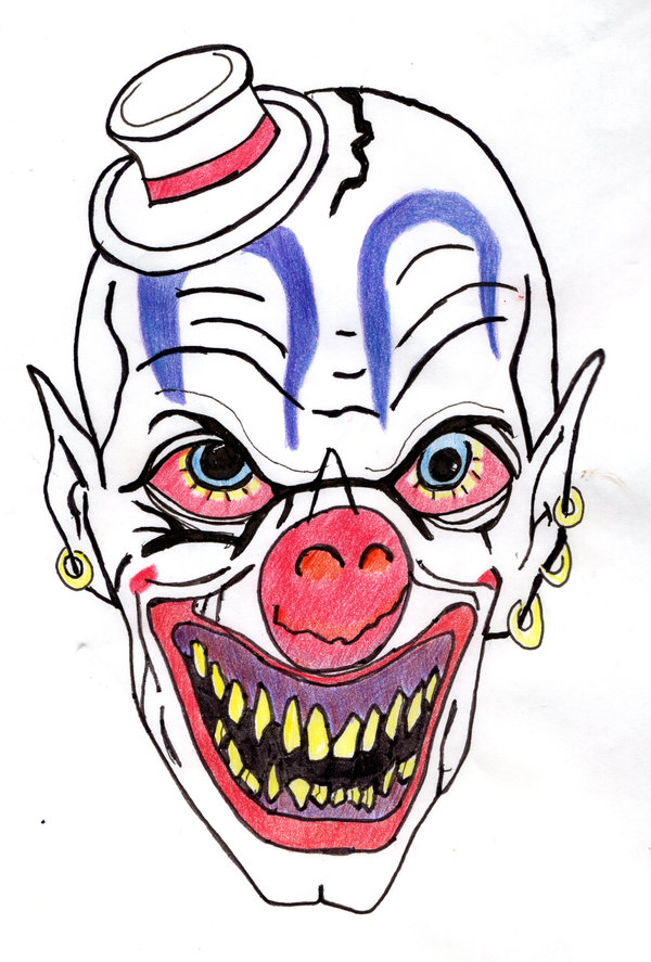 Clown clipart evil clown. By bigkp on library