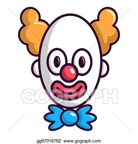 Stock illustration with big. Clown clipart eye