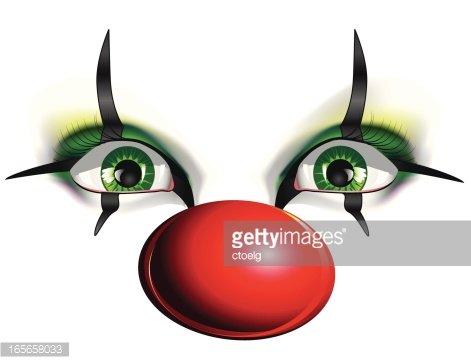 Clown clipart eye. Eyes of a premium