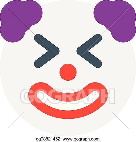 Clown clipart eye. Eps vector with closed