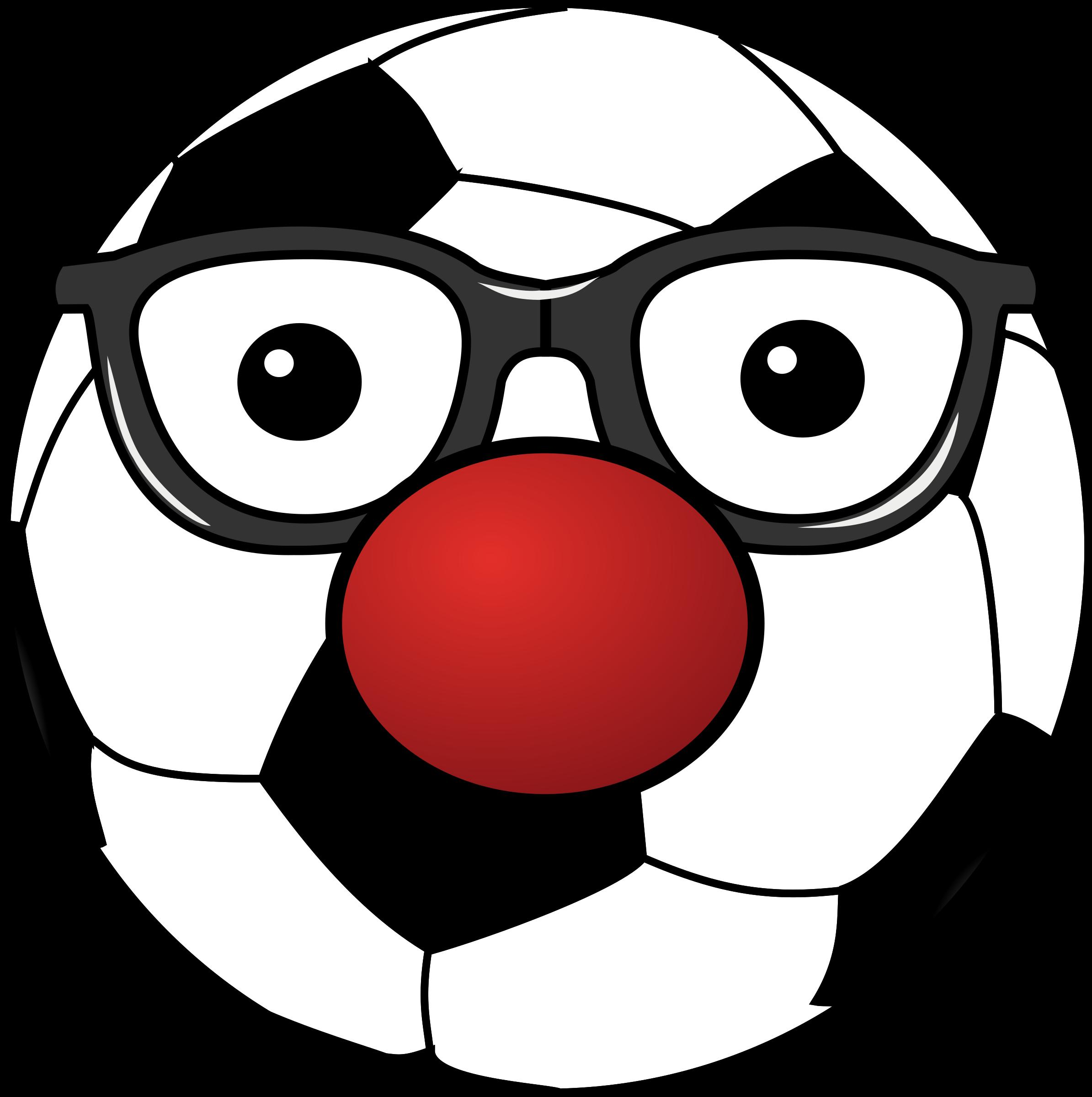 Clown clipart eye. Clowny soccer ball big