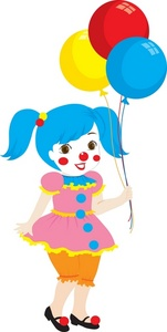 Clown clipart female clown. Girl clip art library