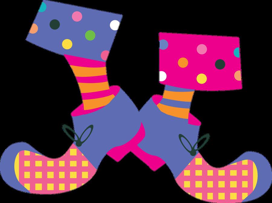 Clown clipart foot. Feet clip art circus