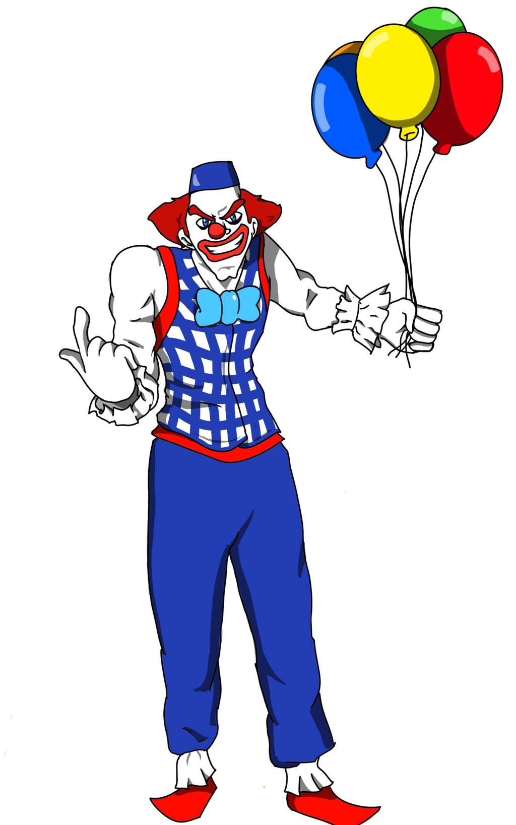 Lips clipart clown. Stabbo the oc database