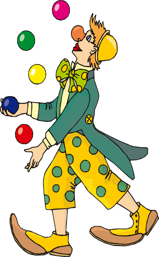 Juggler i royalty free. Happy clipart clown