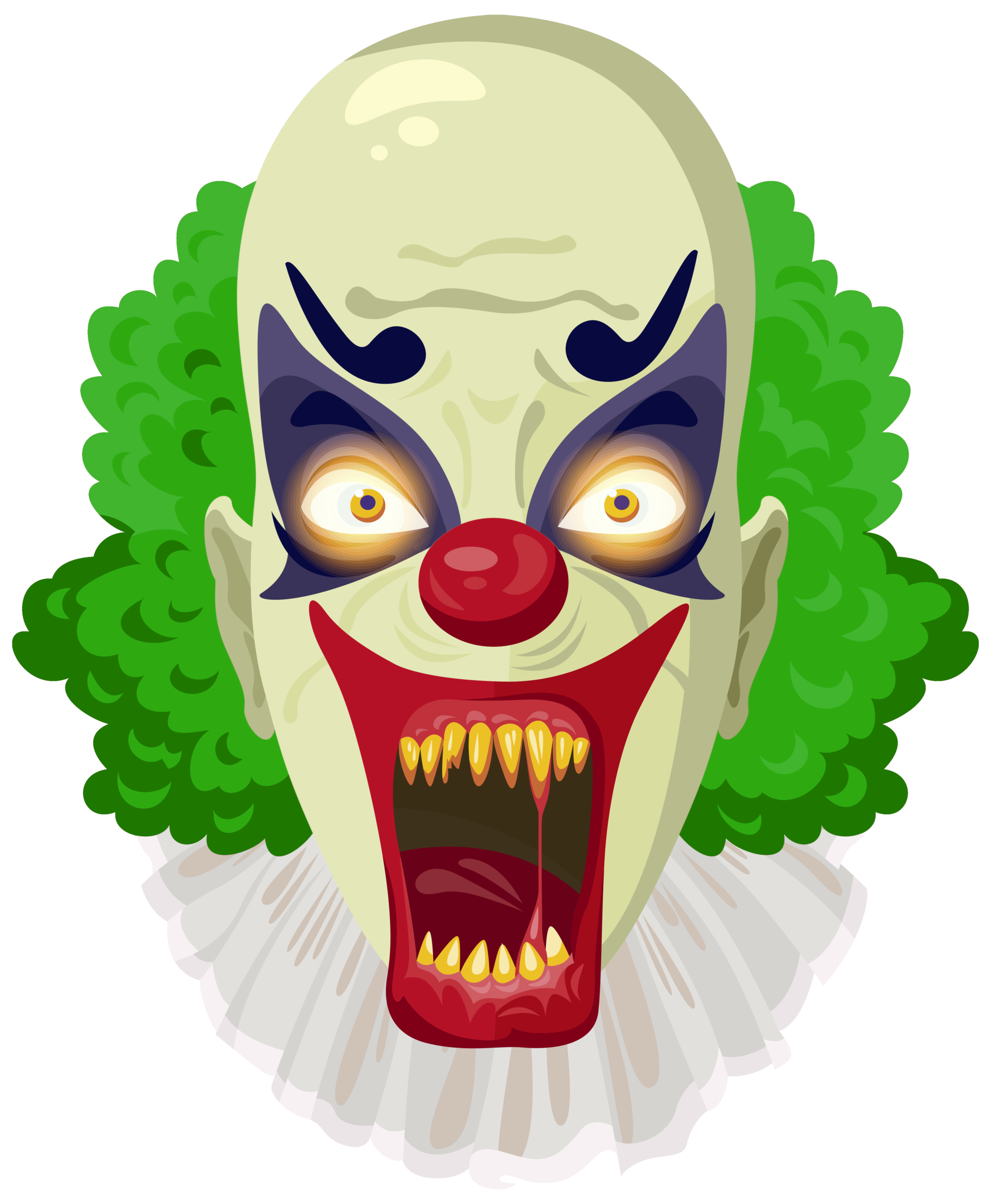 Clown clipart green. Scary png image gallery