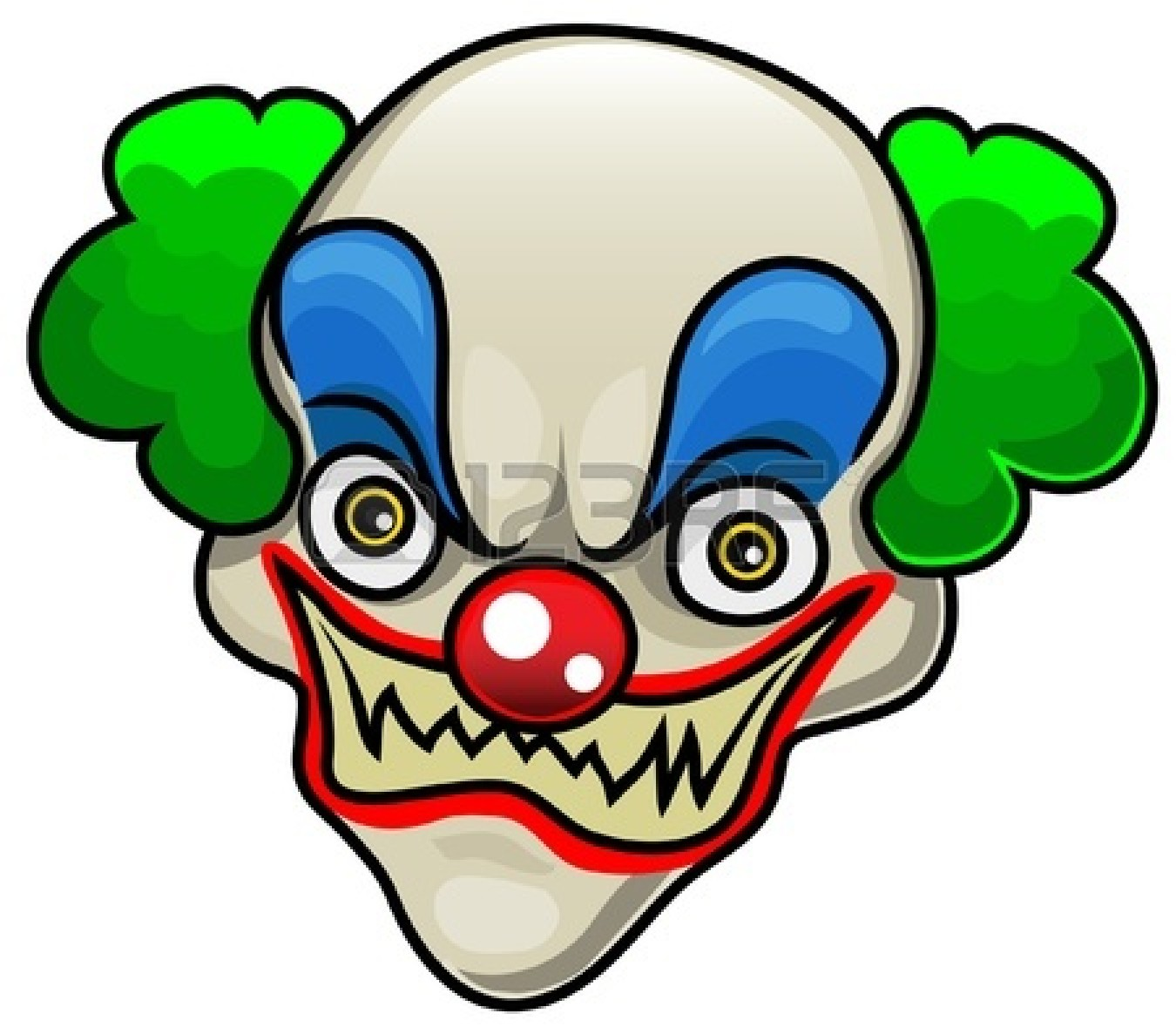 Clown clipart halloween.  scary clipartlook