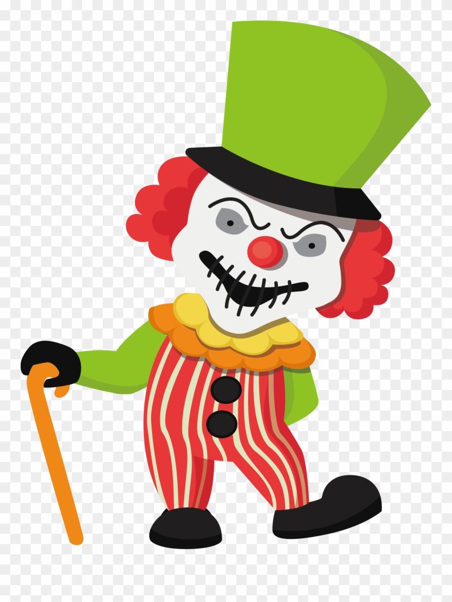 Illustration png . Clown clipart halloween