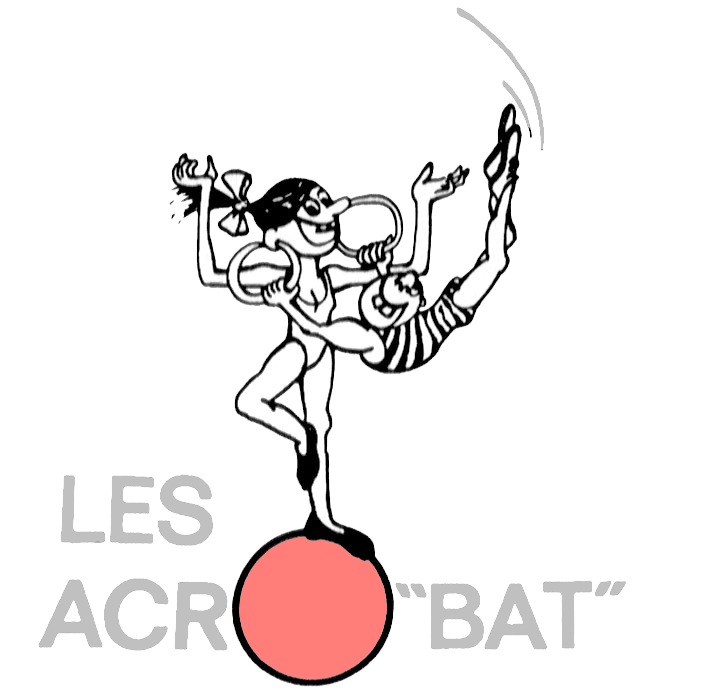 Les acro bat ecole. Clown clipart monocycle