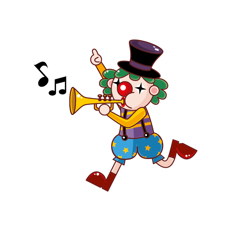 Clown clipart monocycle. Stickers cirque color sticker