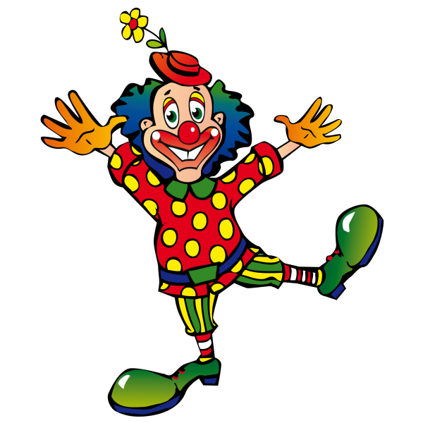 Clown clipart monocycle. Bibliographie sur le cirque