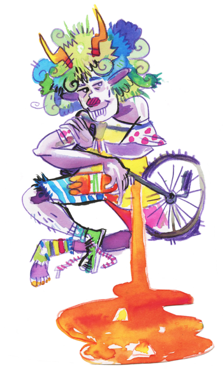 Gamzee trickster tumblr. Clown clipart monocycle