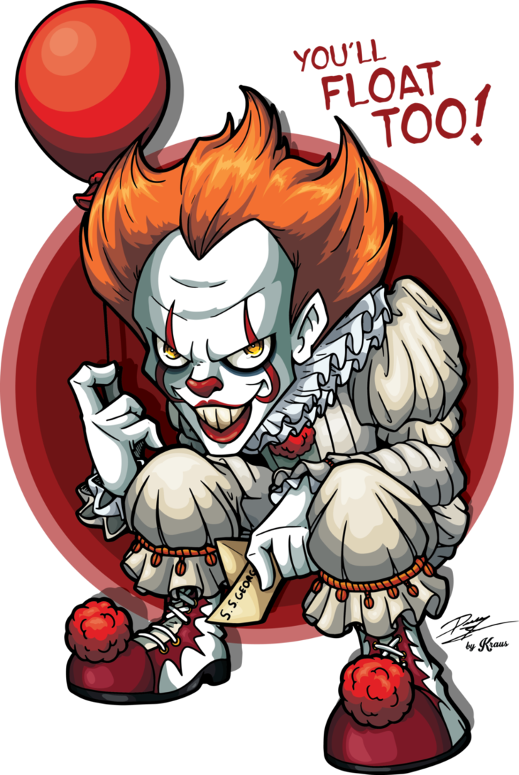 Clown clipart pennywise. The dancing by kraus