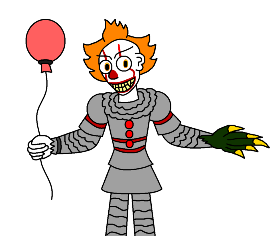 It the dancing by. Clown clipart pennywise