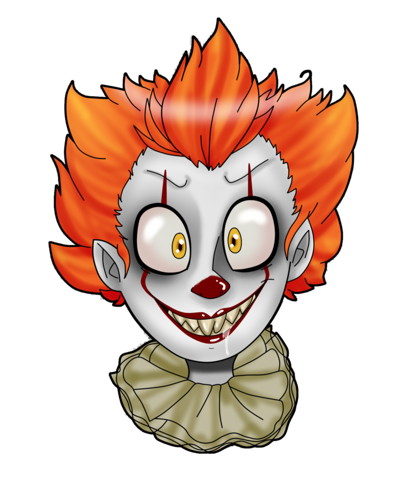 Collab by val draws. Clown clipart pennywise