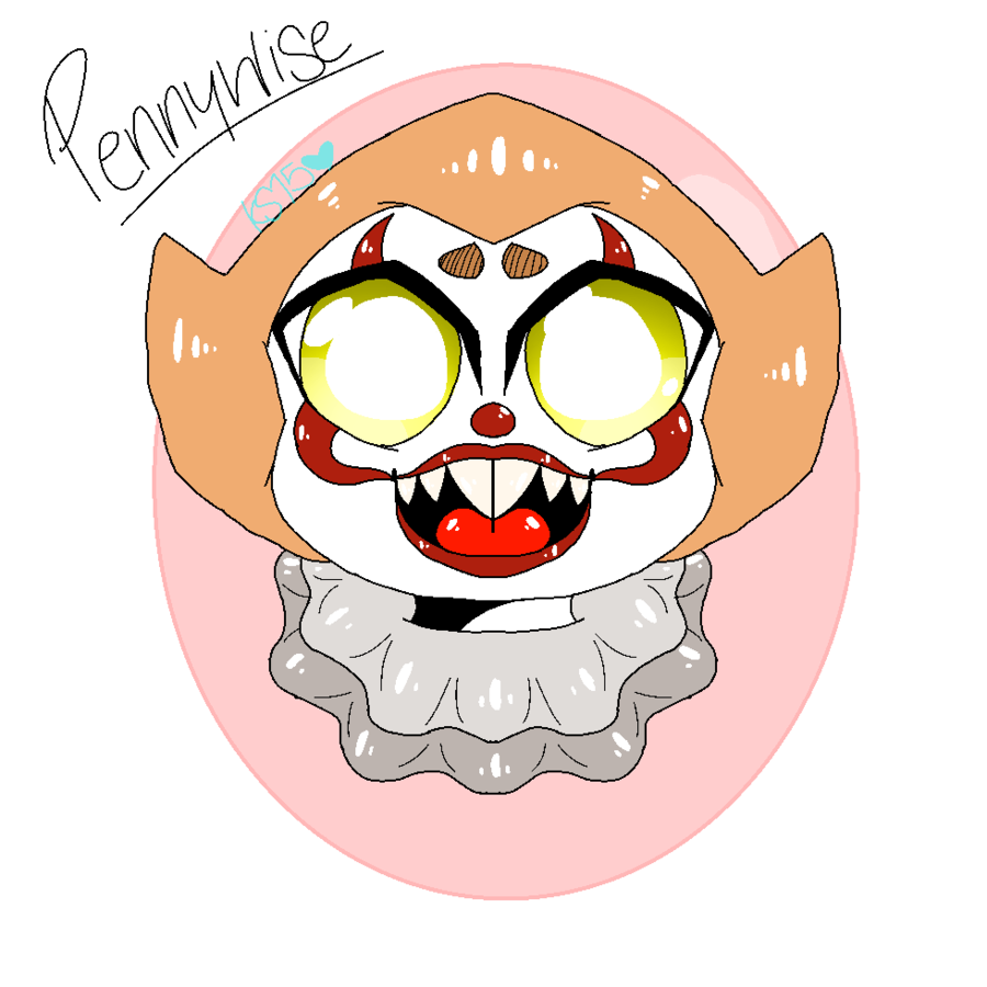 Clown clipart pennywise. The adorable by katsmith