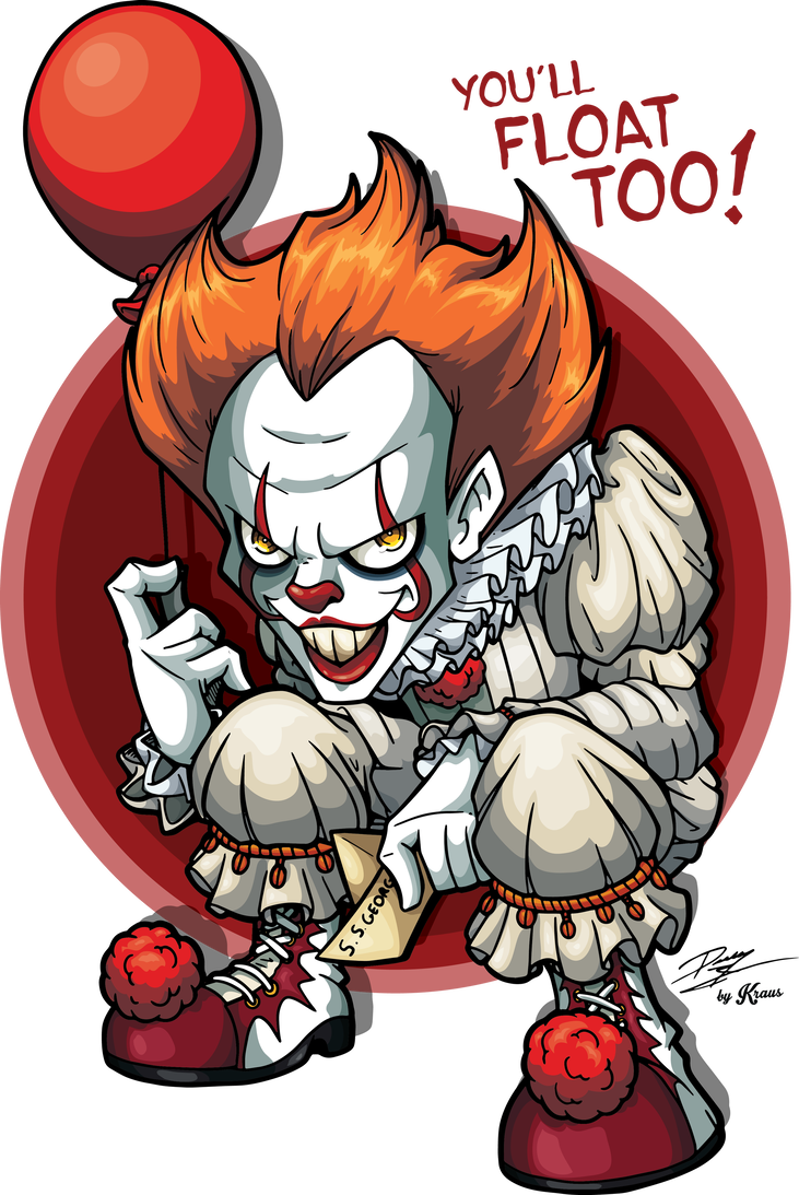 Clown clipart pennywise dancing clown. The by kraus illustration
