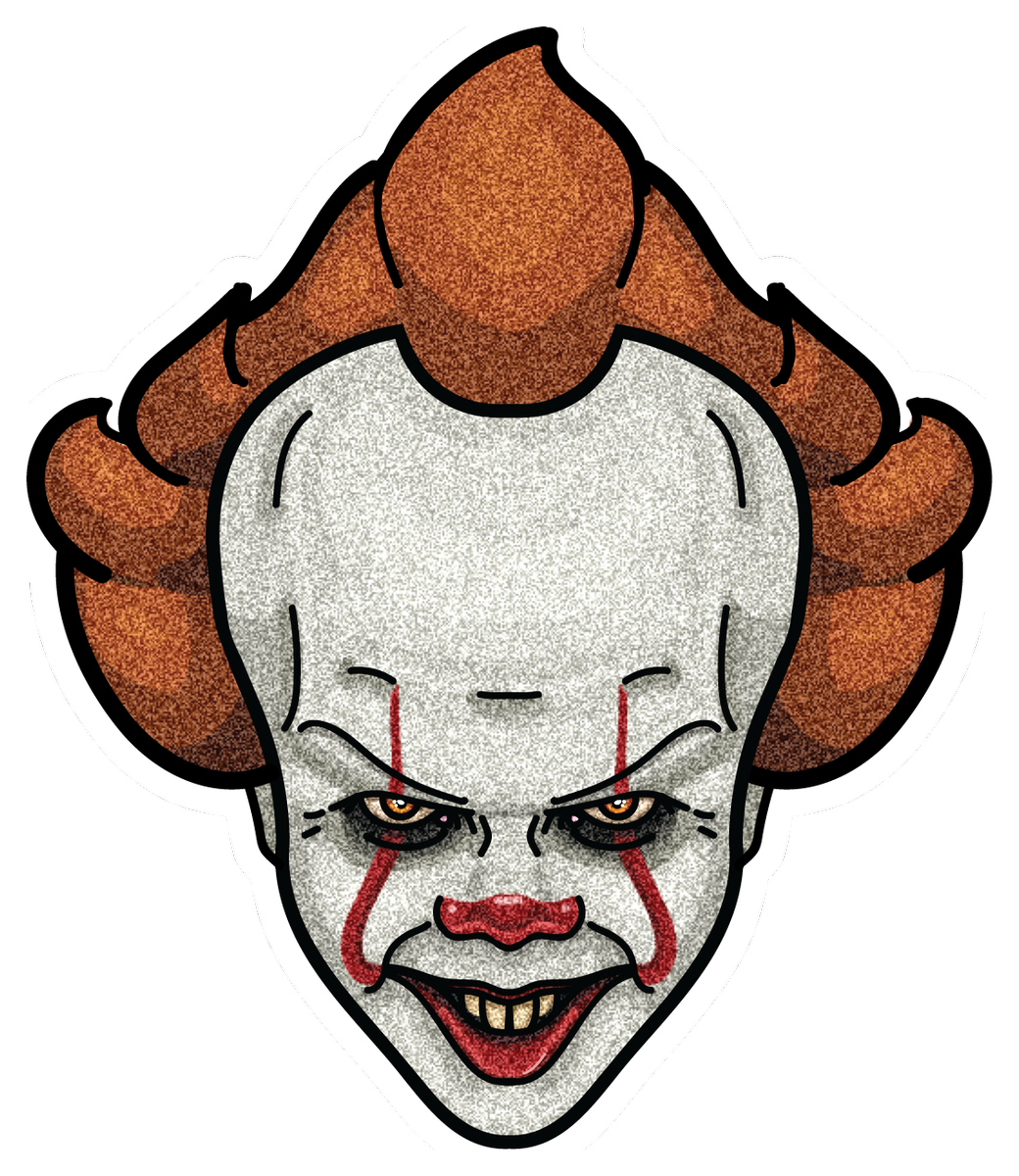 Clown clipart pennywise dancing clown. Wukong designs wukongdesigns twitter