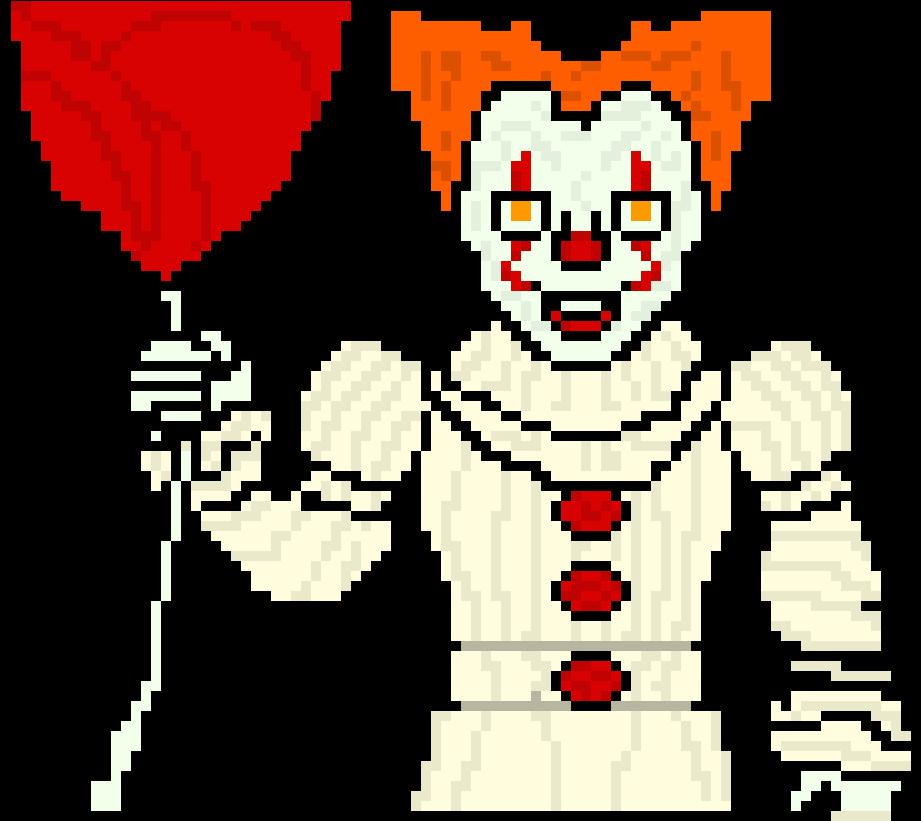 Pixel arts cartoon . Clown clipart pennywise dancing clown