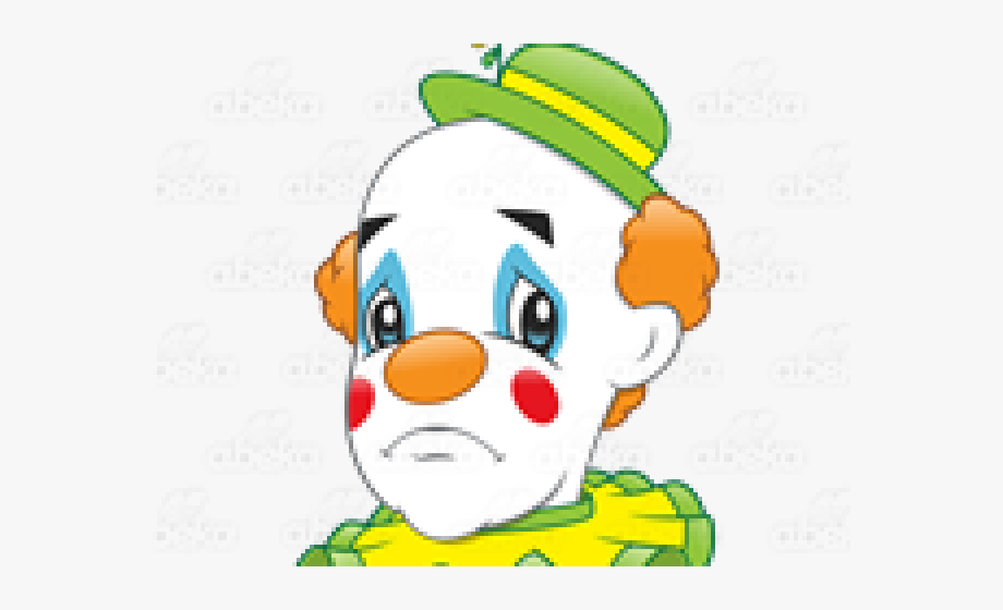 Clown clipart sad clown. With a frown free